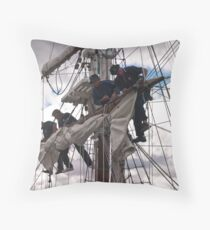 Foresail replacement - Lady Nelson Throw Pillow