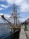 Lady Nelson dockside by Odille Esmonde-Morgan