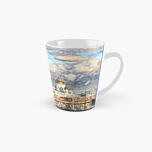 Russian winter Moscow River view Tall Mug