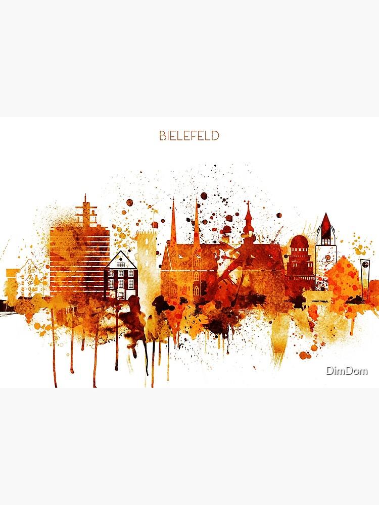 Bielefeld Germany Red Yellow Skyline by DimDom