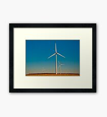 A Texas Windmill Sunset Framed Print