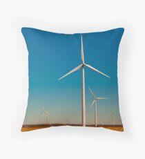A Texas Windmill Sunset Throw Pillow