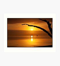 Sunrise over Mosquito Lagoon Art Print