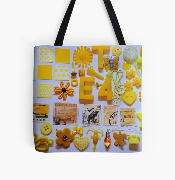 Yellow Trinkets All Over Print Tote Bag