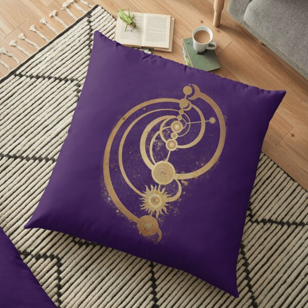 The Dark Crystal Master Time Symbol Floor Pillow