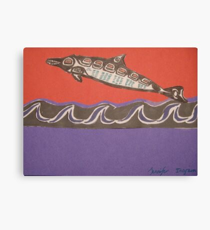 Nothwest Native influence of dolphin Canvas Print