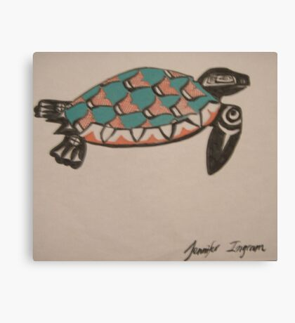 Northwest Native Influence of sea turtle Canvas Print