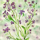 Viv's Wild Purple Flowers by Anne Gitto