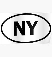 New York - NY - oval sticker and more Poster