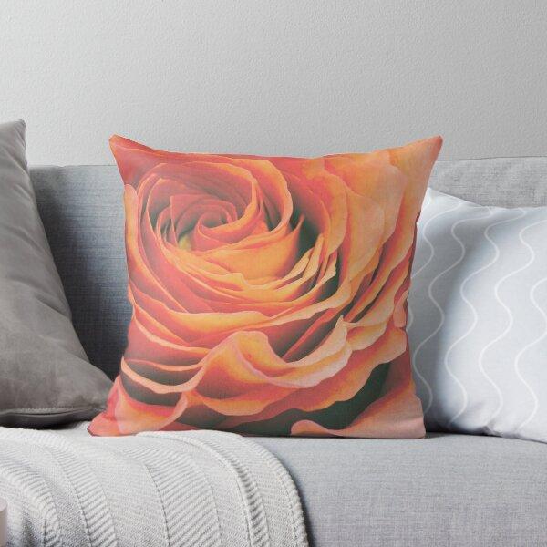 Le pétale de rose Throw Pillow
