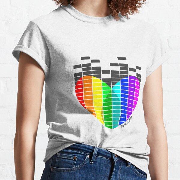 Heart Equaliser Transparent Classic T-Shirt
