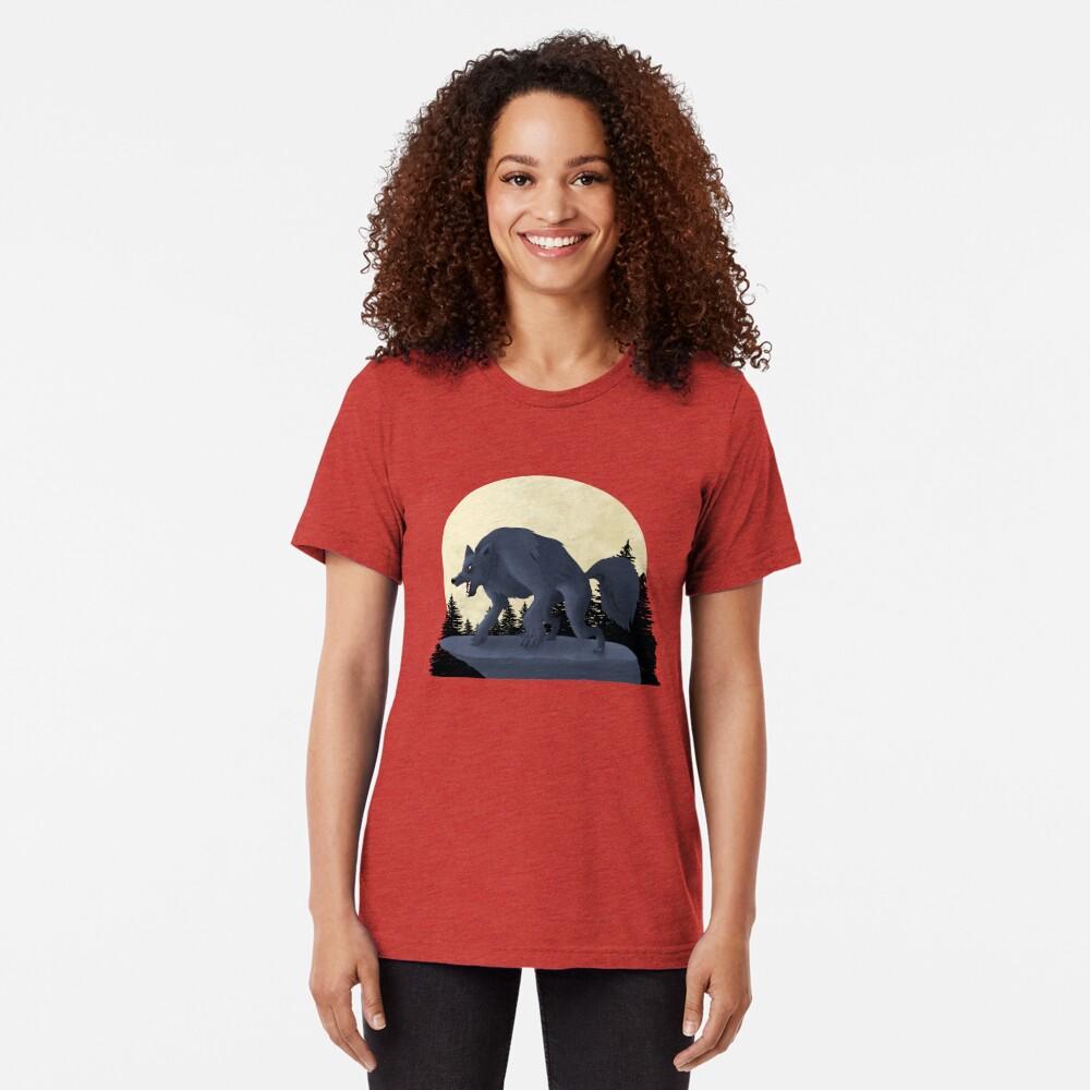 T-shirt chiné «Loup-Garou»