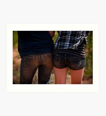 Two bums! Art Print