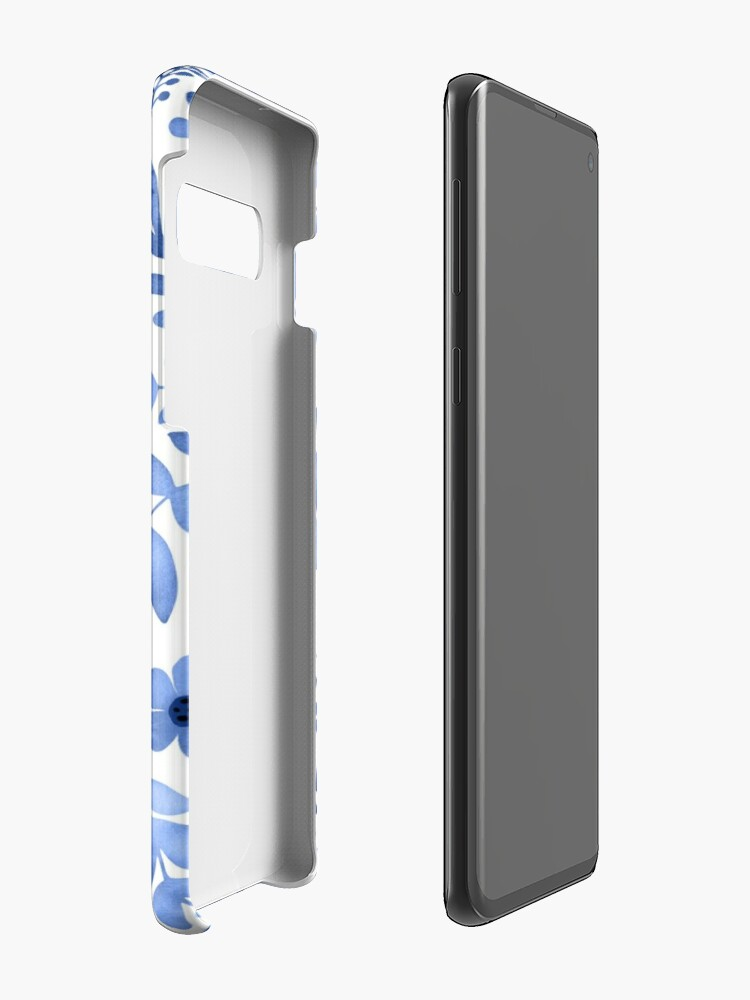 Alternate view of Blue watercolour floral  Case & Skin for Samsung Galaxy