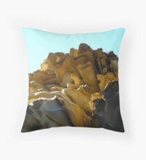 Emily Miller Beach Sandstone Formations Throw Pillow