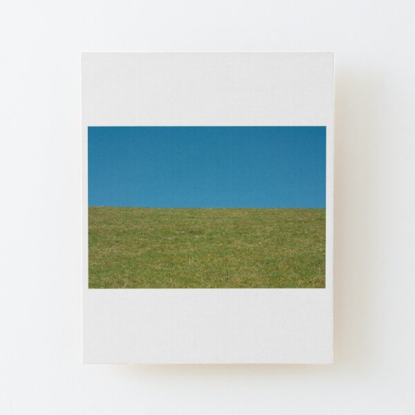 Grass and sky Wood Mounted Print