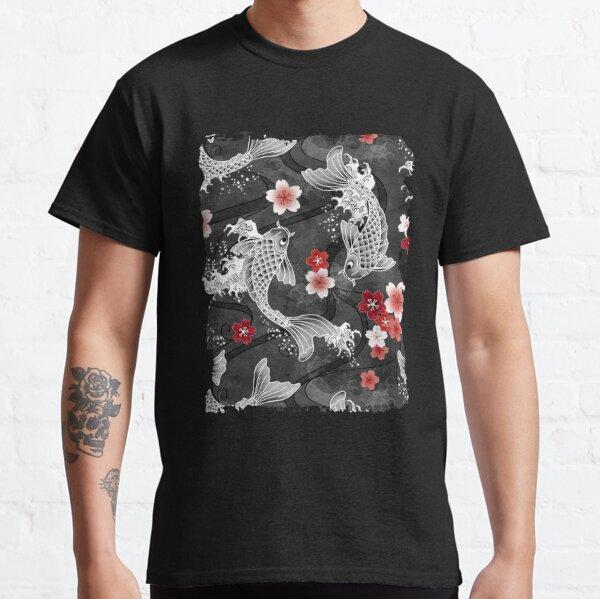 Koi sakura blossom in black Classic T-Shirt