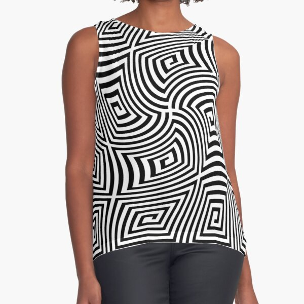 #Optical #illusions, #Visual illusion, Optical #Art Sleeveless Top