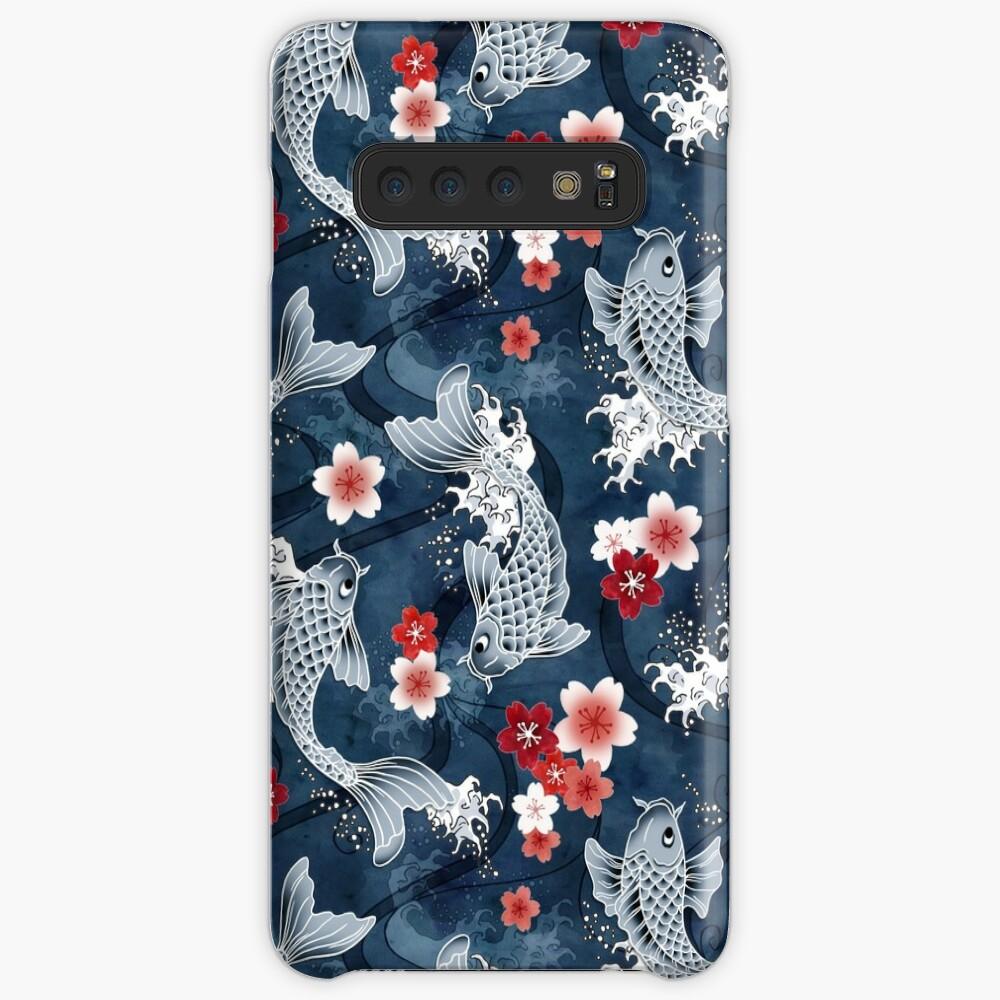 Koi sakura blossom in blue Case & Skin for Samsung Galaxy
