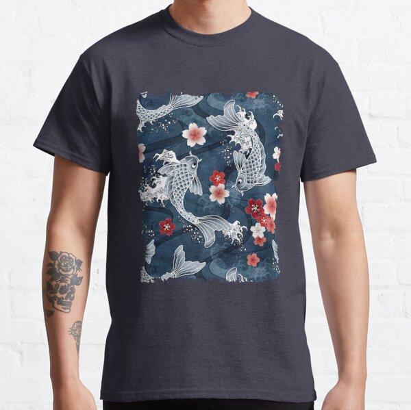 Koi sakura blossom in blue Classic T-Shirt
