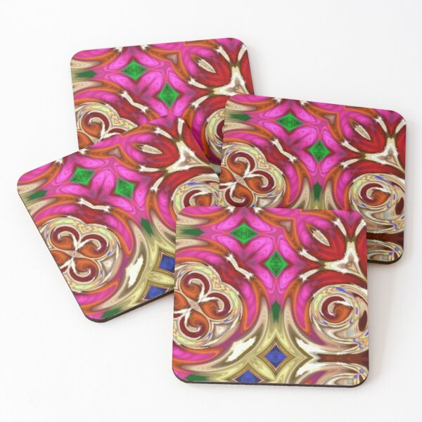 Hint of Pink Coasters (Set of 4)