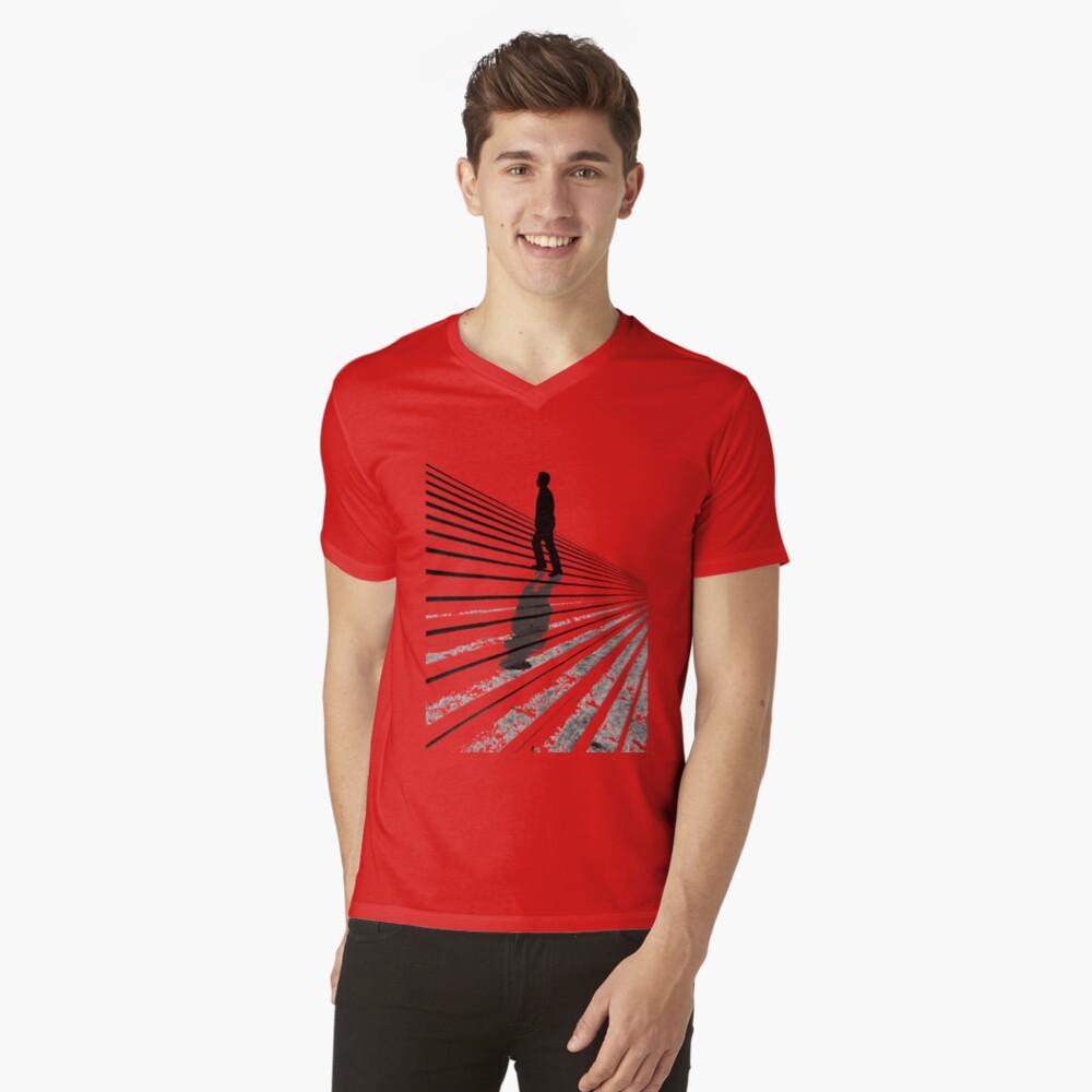 T-shirt col V «Stairs»