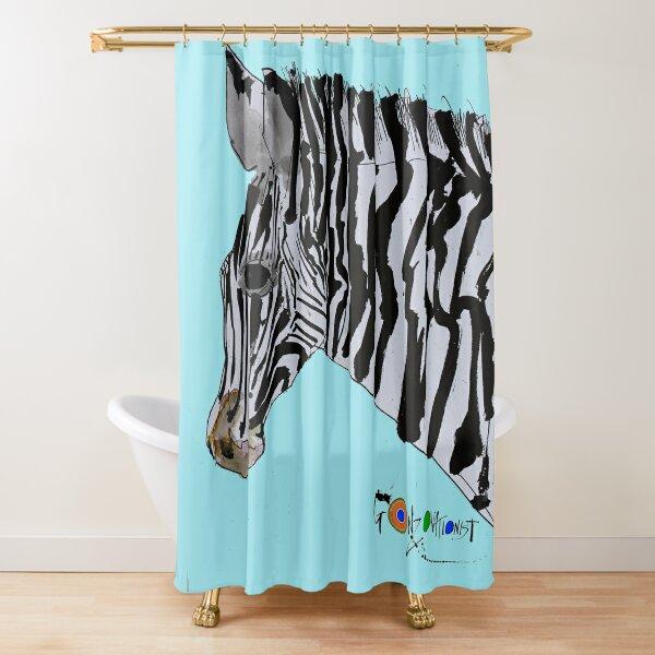Zebra from Critical Critters Shower Curtain