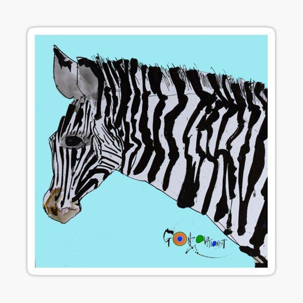 Zebra from Critical Critters Sticker