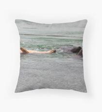 Playing seals Throw Pillow