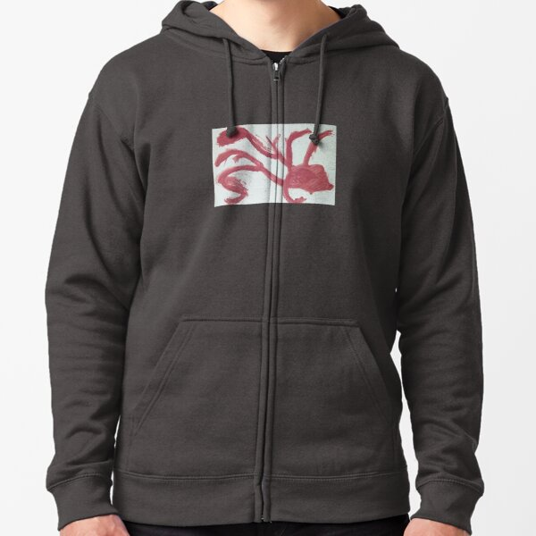Abstract 9 Zipped Hoodie