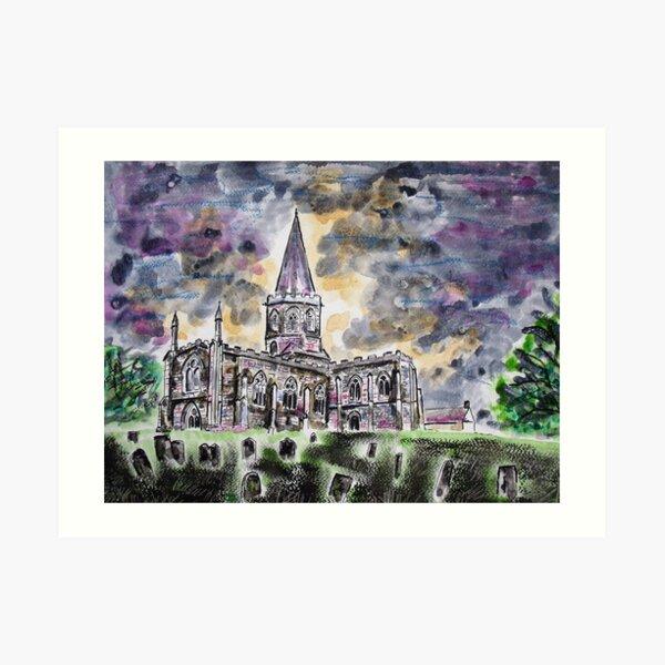All Saints church Bakewell Art Print