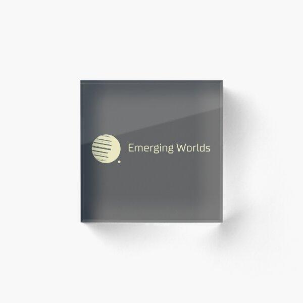 Emerging Worlds Branded Acrylic Block