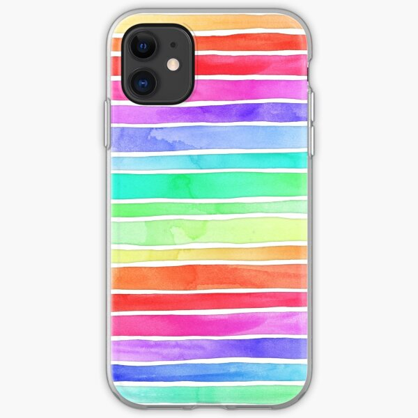 Ever So Bright Rainbow Stripes iPhone Soft Case