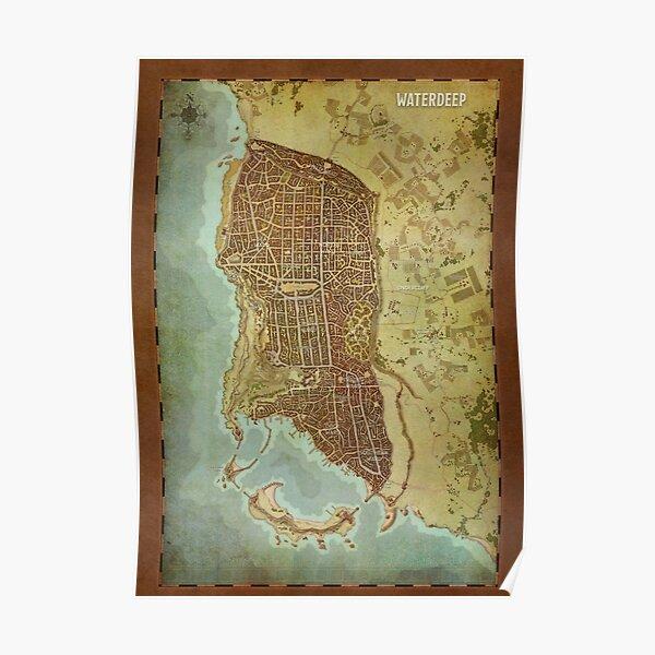 Waterdeep City Map Poster