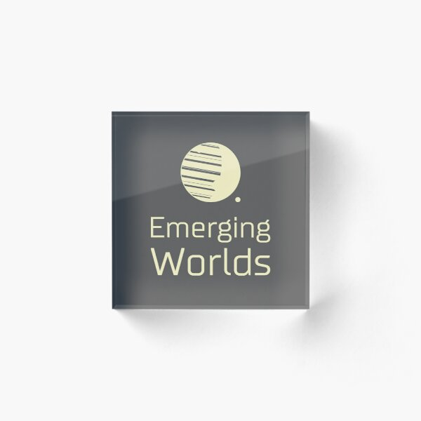 Emerging Worlds Branded - Compact Acrylic Block