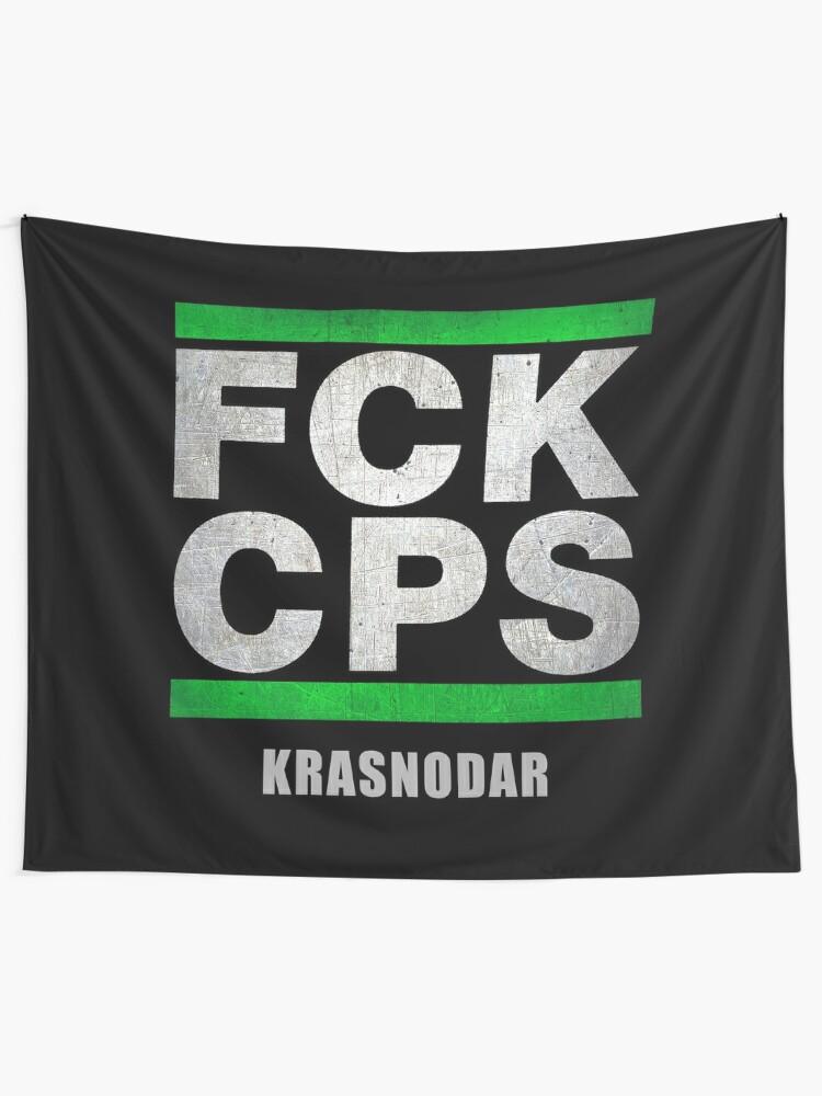 Krasnodar Ultras Hooligans Fans Football Fck Cps Tapestry By Tombalabomba Redbubble