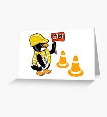 Safety Peng Greeting Card