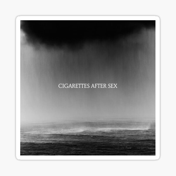 """""""Cry"""" by Cigarettes After Sex Sticker"""