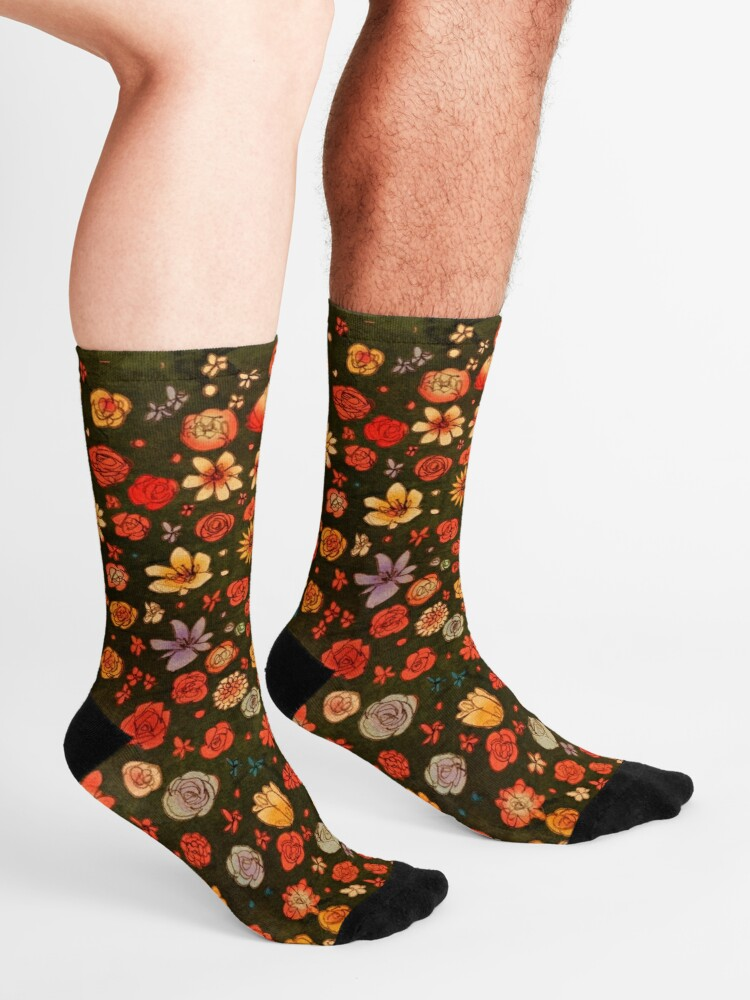 Alternate view of Flowers Socks