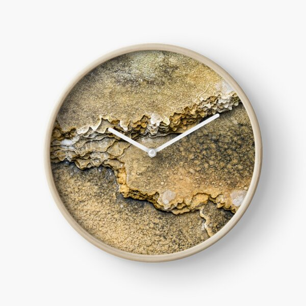 Earth and water organic abstract Mammoth Hotsprings Clock