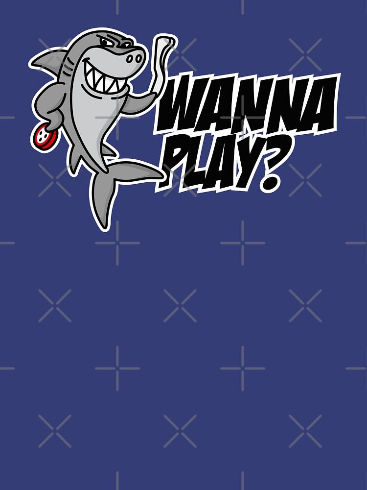 Wanna play? Underwater hockey shark Octopush cool  by LaundryFactory