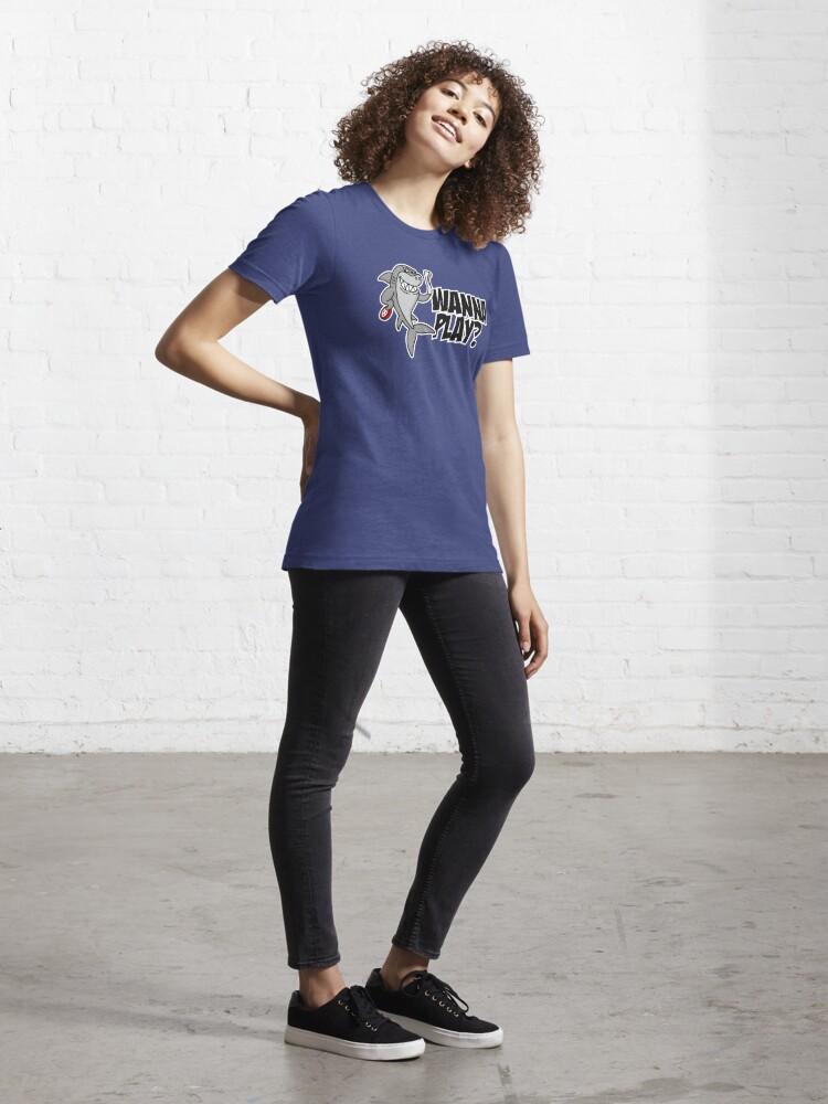Alternate view of Wanna play? Underwater hockey shark Octopush cool  Essential T-Shirt