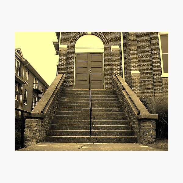 Ex-Church Steps and Entrance Photographic Print