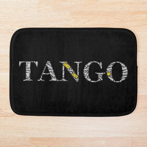 Tango Chose Me Letters Word Art Bath Mat