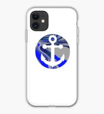 marble anchor  iPhone Case
