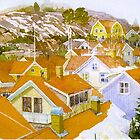 Rooftop landscape Lysekil by Peter Lusby Taylor