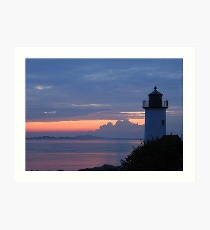 Annisquam Lighthouse Sunset - Gloucester, Massachusetts Art Print