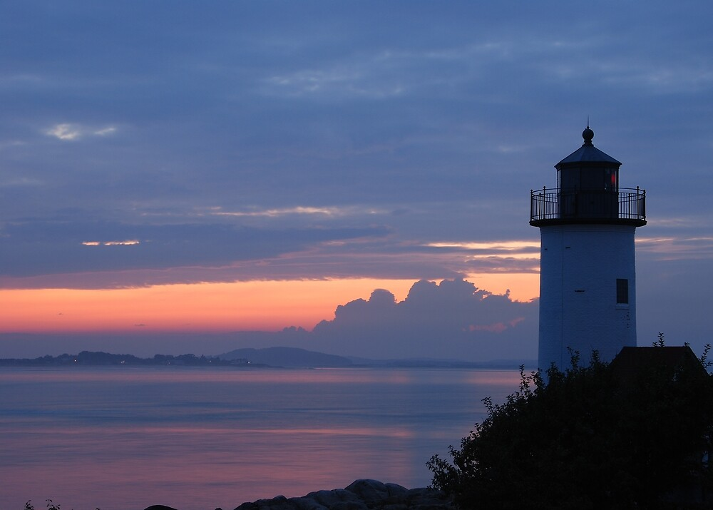 Annisquam Lighthouse Sunset - Gloucester, Massachusetts by Steve Borichevsky