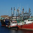 Trawlers in Gloucester Massachusetts by Steve Borichevsky