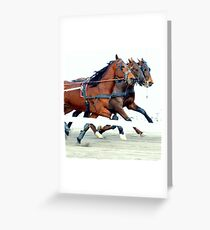 A winter day at the races Greeting Card